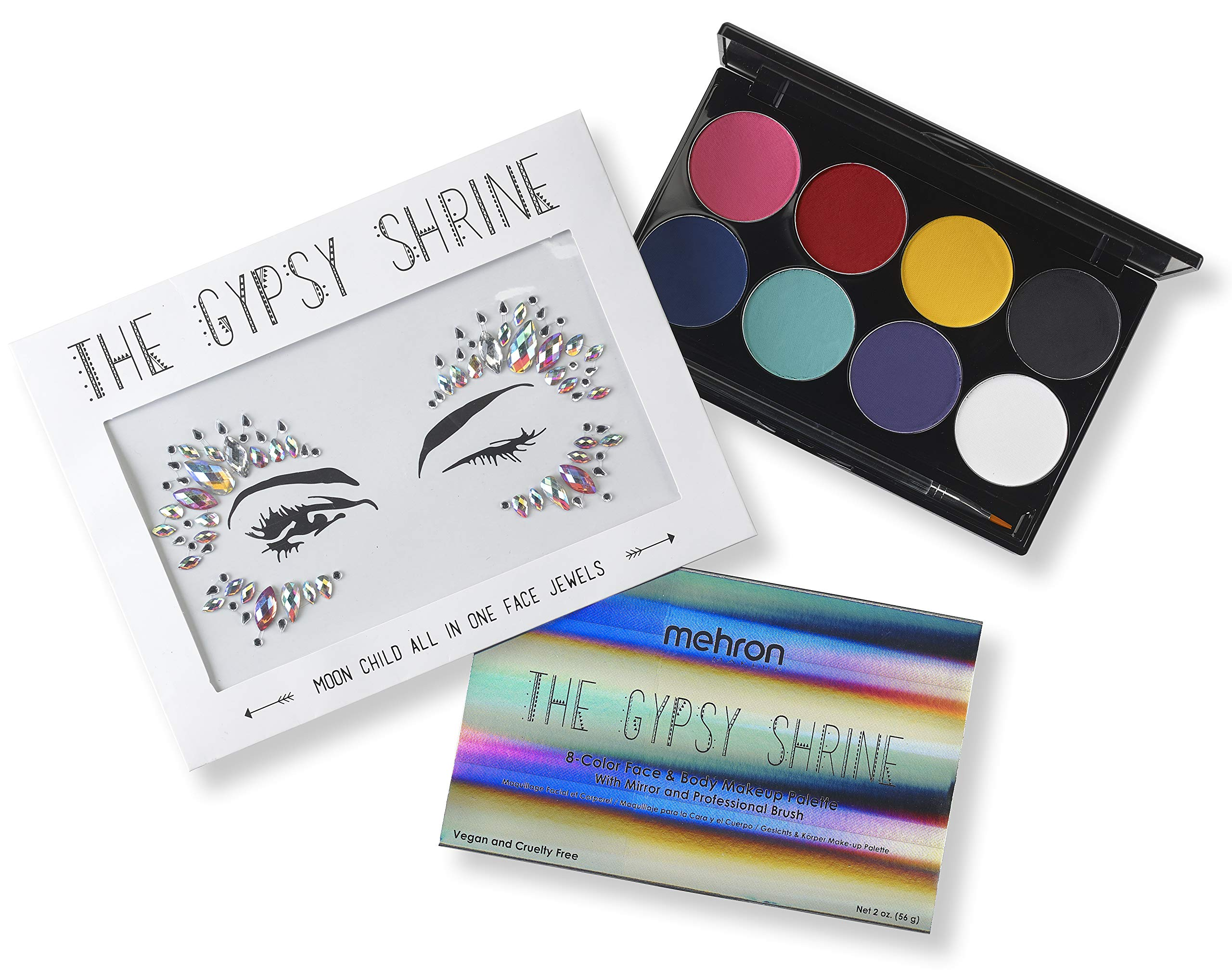 Mehron Makeup Face & Body Makeup Palette with The Gypsy Shrine Jewel Collection (Moon Child)