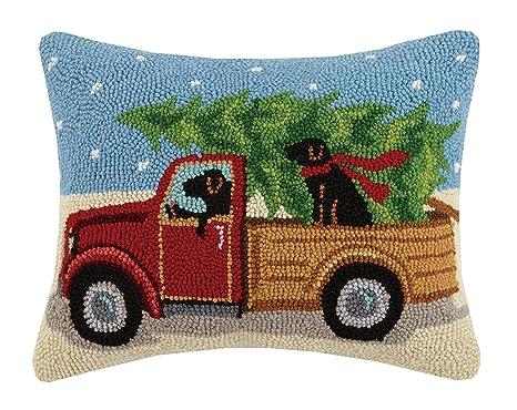 Amazon.com: Pekín artesanía camión gancho lana almohada ...