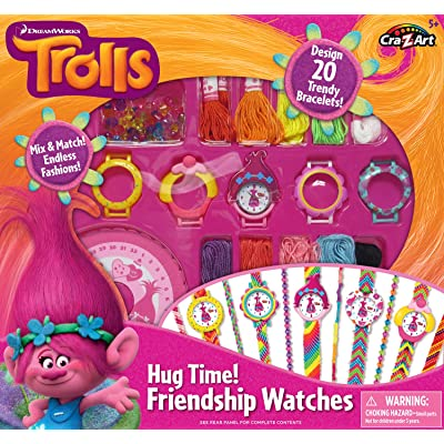 Cra-Z-Art Trolls Hug Time Friendship Watches Building Kit: Toys & Games
