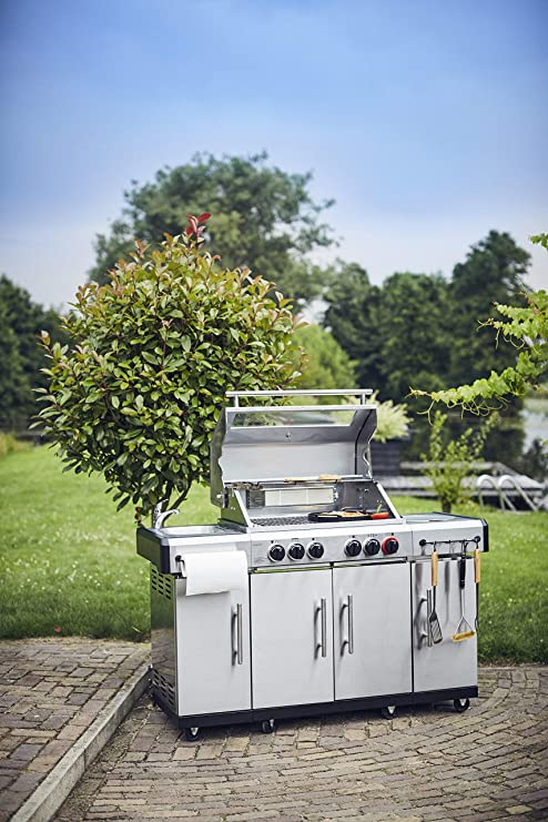 Enders Barbecue à gaz Kansas Pro 3 SIK Turbo, graveur de