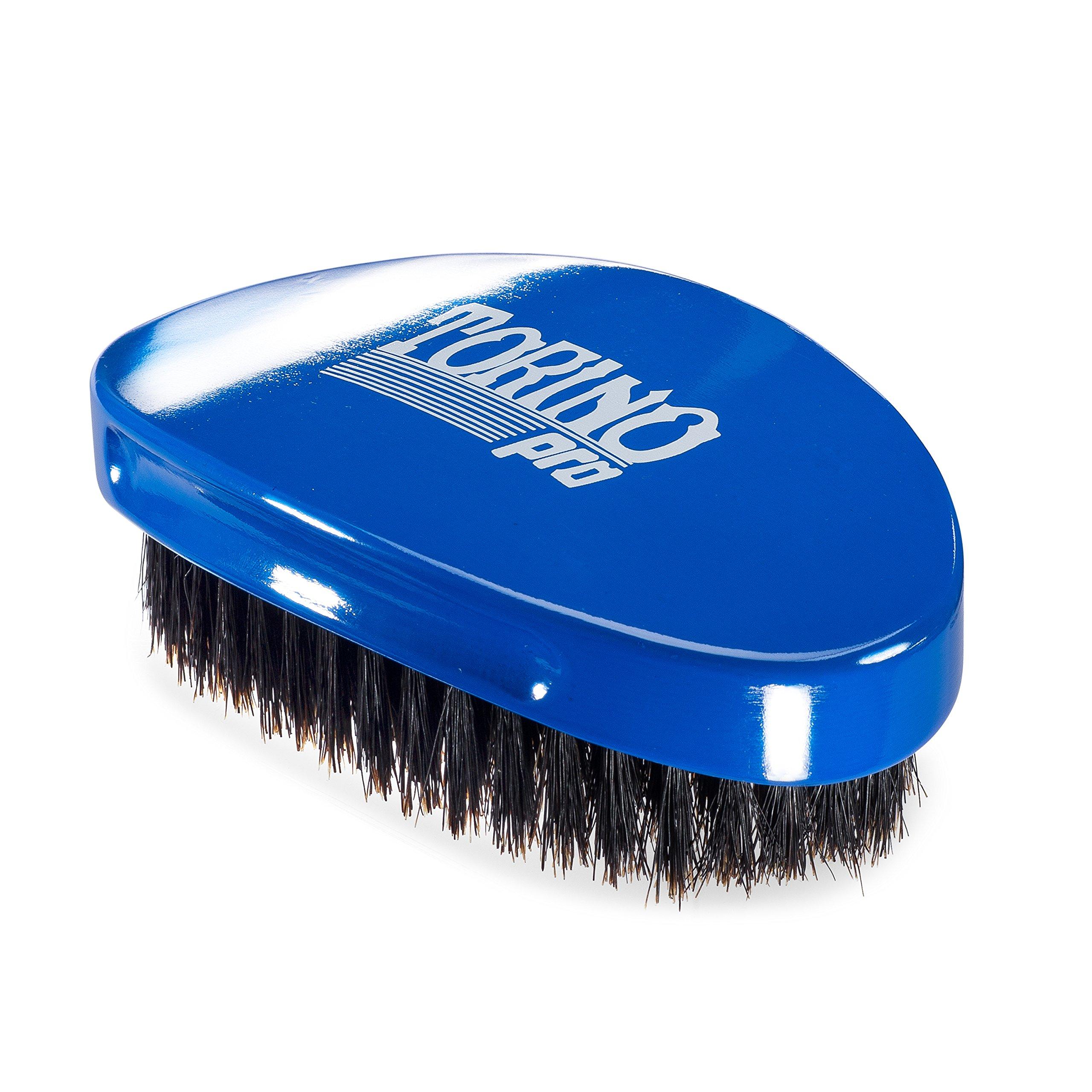 Torino Pro Wave Brush #720 By Brush King - Medium Soft Curve 360 Waves Palm Brush