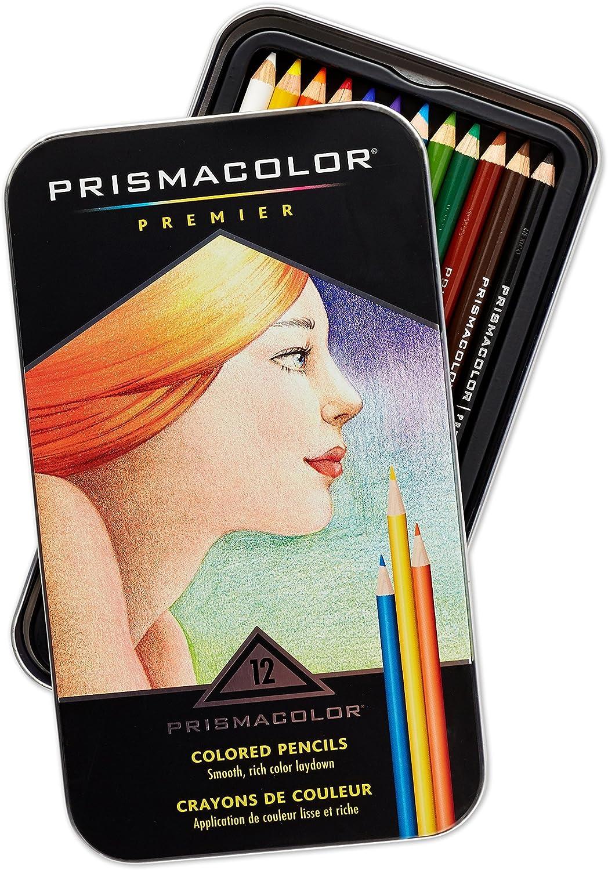 Prismacolor 3596TPremier Colored Pencils, Soft Core, 12 Count