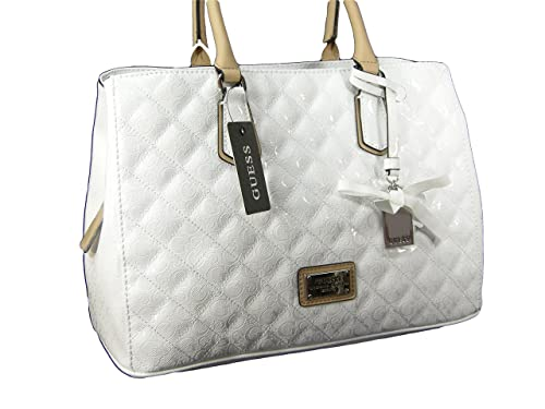 da3c303ab510 New Guess G Logo Large Purse Satchel Hand Bag Spring Summer White Tote  Flowering  Amazon.ca  Shoes   Handbags
