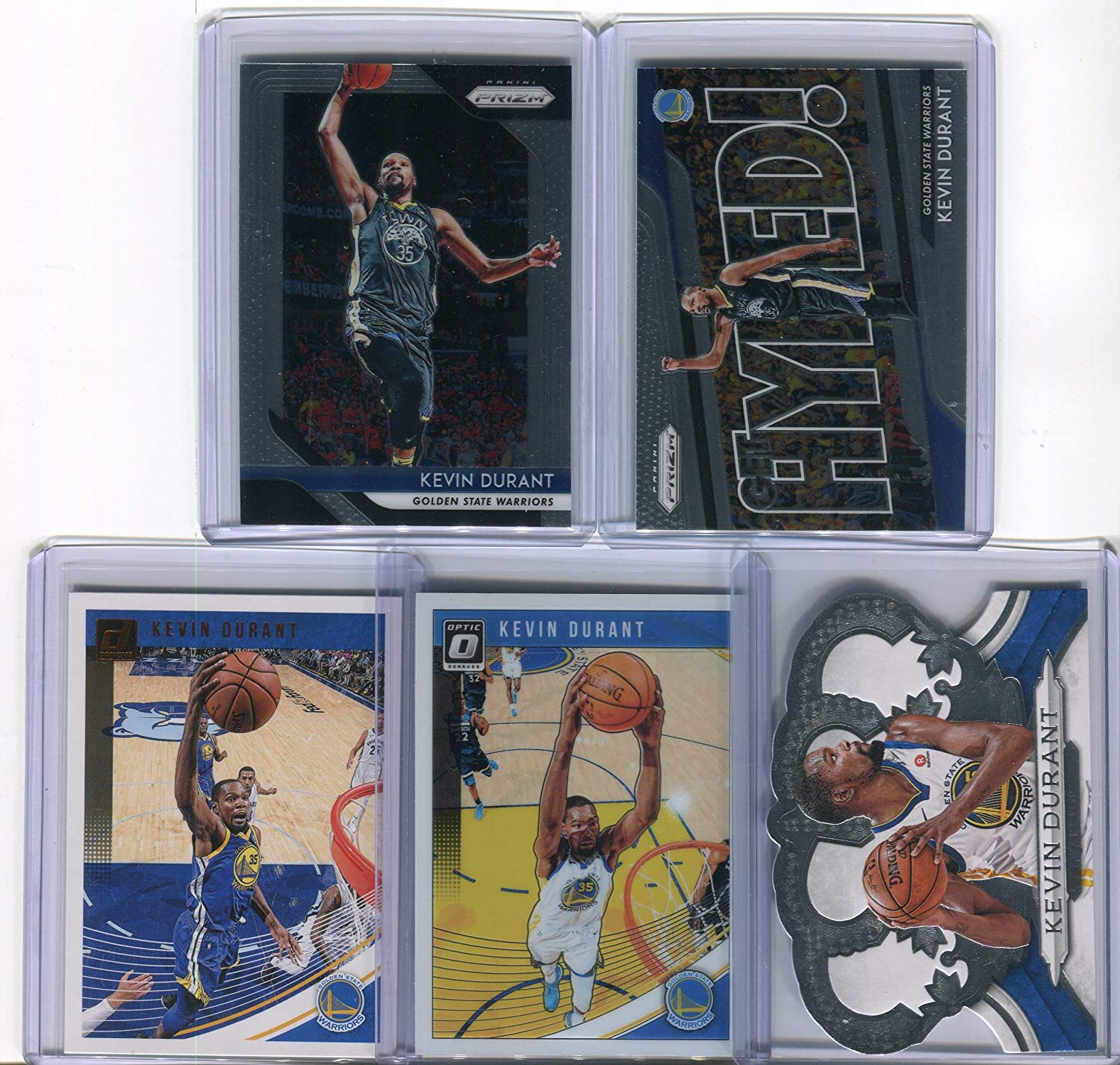 Kevin Durant Golden State Warriors Assorted Basketball Cards 5 Card Lot