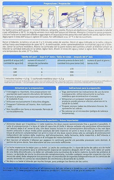 Holle Leche de Continuación de Cabra 2 (+6 meses) - 400 gr: Amazon.es: Alimentación y bebidas