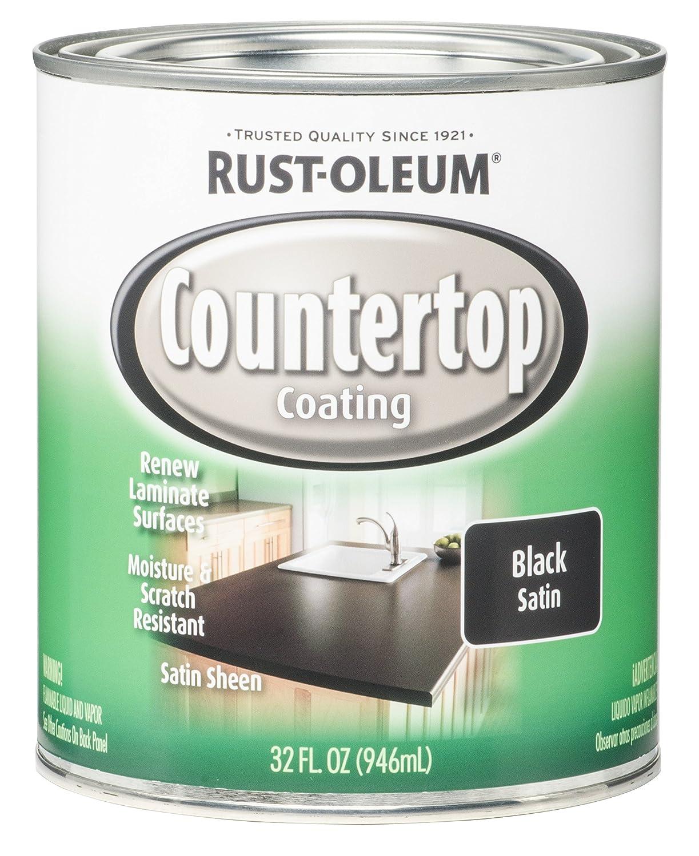 Rust-Oleum 263209 Countertop Coating, 32-Ounce, Black Satin ...