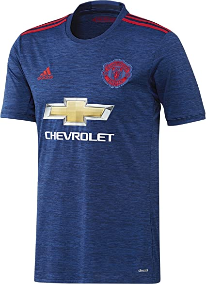 Amazon Com Adidas Manchester United Fc Official 2016 17 Ss Away Jersey Adult Royal Red Clothing