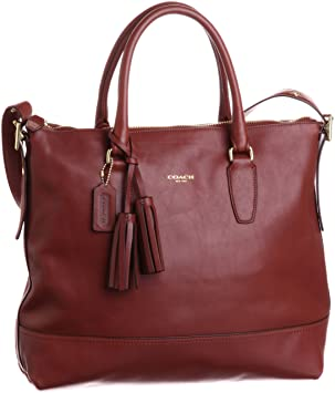 coach legacy leather rory north south satchel bag 19892 cognac brown rh amazon co uk
