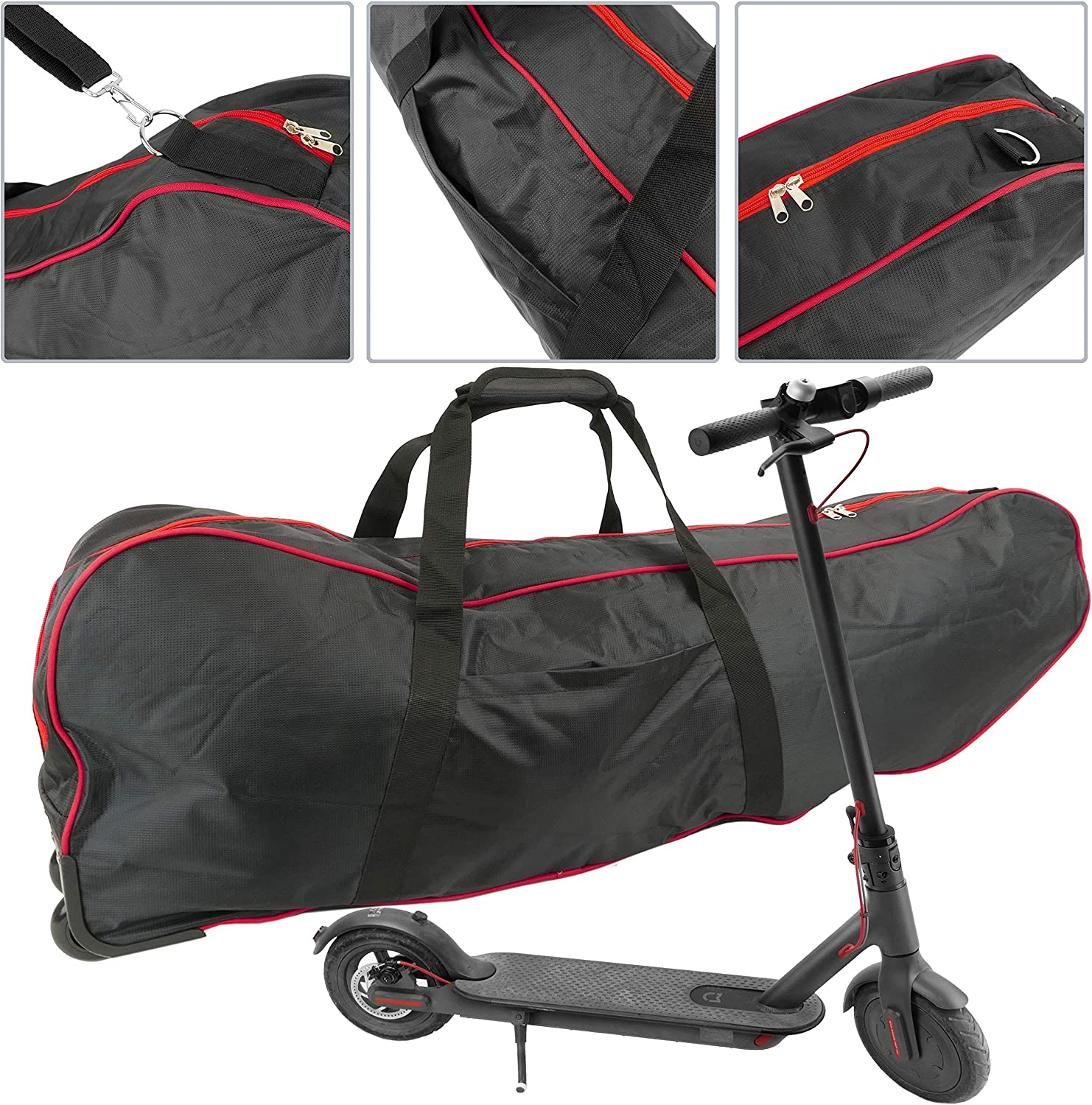 BK065 Unisex CityBAG BK065-VCES Bag for Scooter with Wheels 10 Inch Trolley Type Black Adults English
