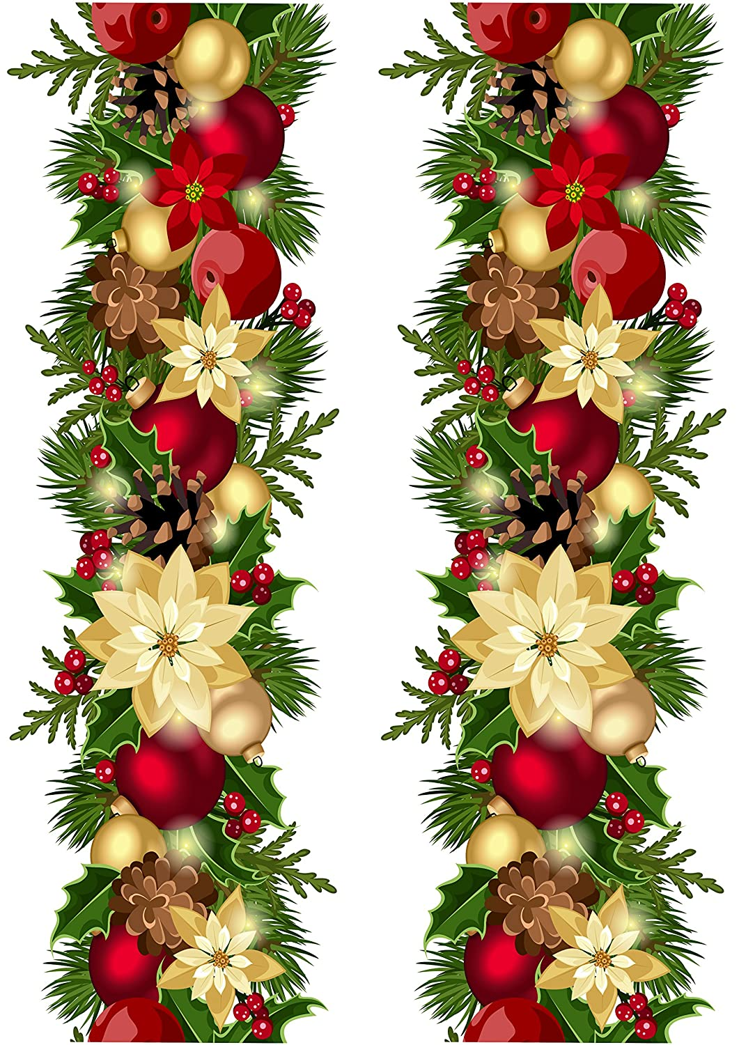 Top That Edible Decor Sheet Christmas Wreath Garland Border Ribbon ,  Perfect for Decorating Your Cakes, Easy to Use