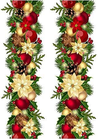 Top That Edible Decor Sheet Christmas Wreath Garland Border Ribbon Perfect For Decorating Your Cakes Easy To Use