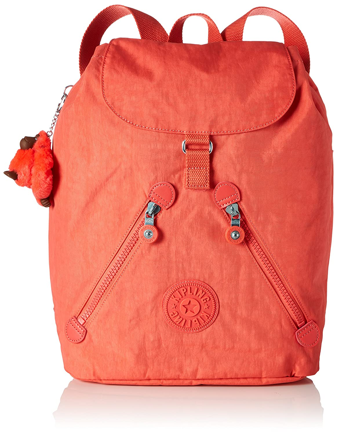 Damen Fundamental Rucksack, Orange (Galaxy Orange), 42x42x16.5 cm Kipling