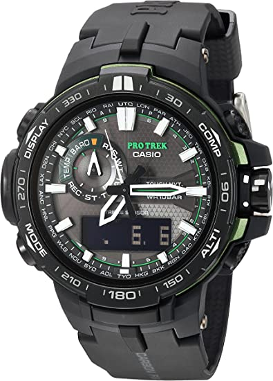 Amazon.com: Casio Men's Pro Trek Quartz Watch with Resin Strap, Black, 16 ( Model: PRW6000Y-1ACR): Casio: Watches