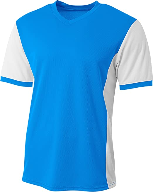 Electric Blue White X-Small A4 Premier Soccer Jersey