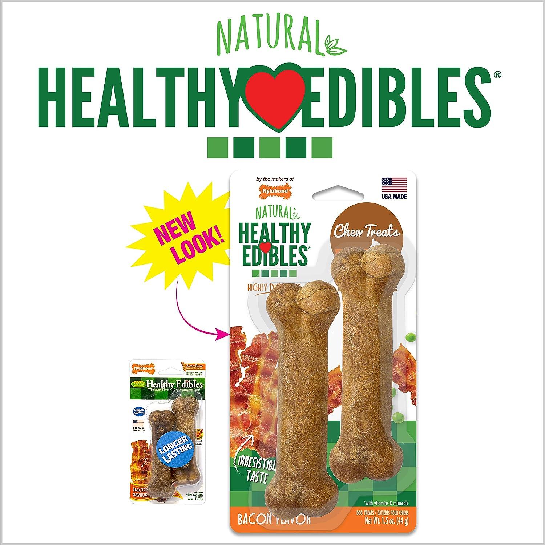 Bacon 8 Count X-Small Nylabone Healthy Edibles Natural Dog Treats