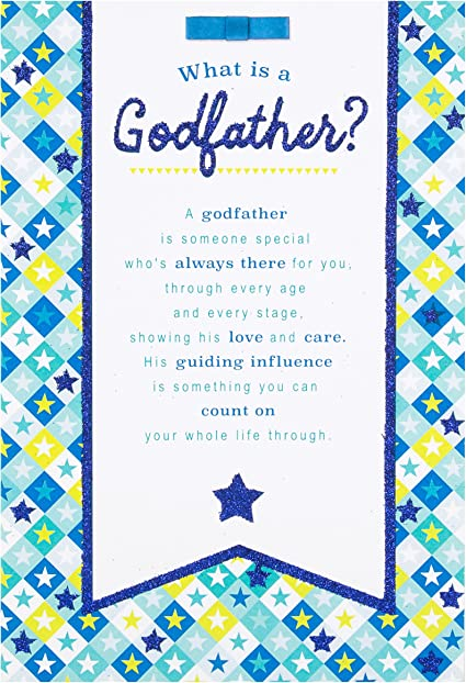 Godfather On Fathers Day Standard Greetings Card