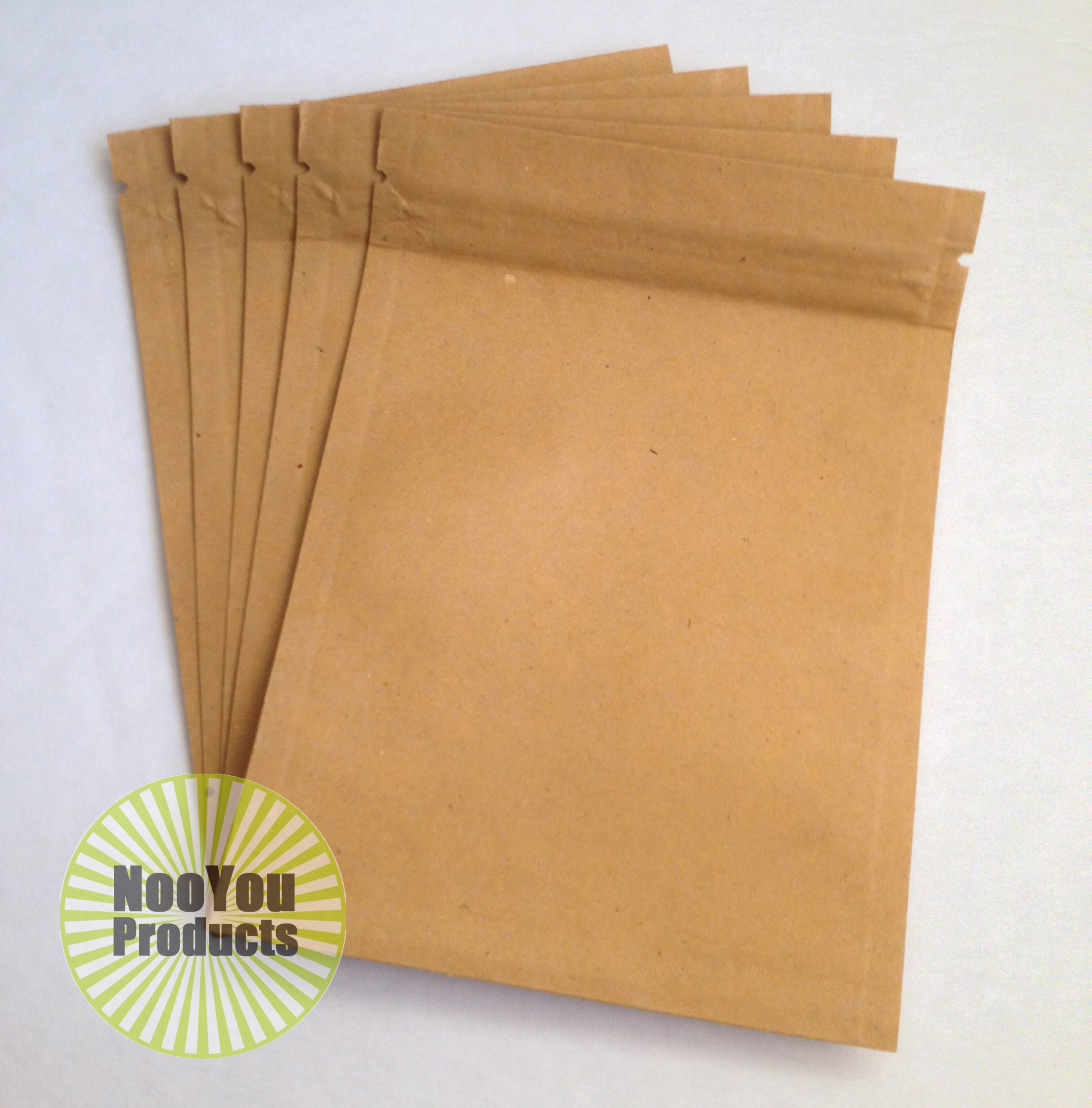 Brown Kraft Paper 3.5''x5'' Heat Seal Bags, Safe Food Storage, Smell Proof Product Packaging, Durable Reusable Survivalist Baggies (Herbs, Seeds, Tea, Coffee, Pharma) Snack Size Bakery Bag (1,000) by NooYou Products