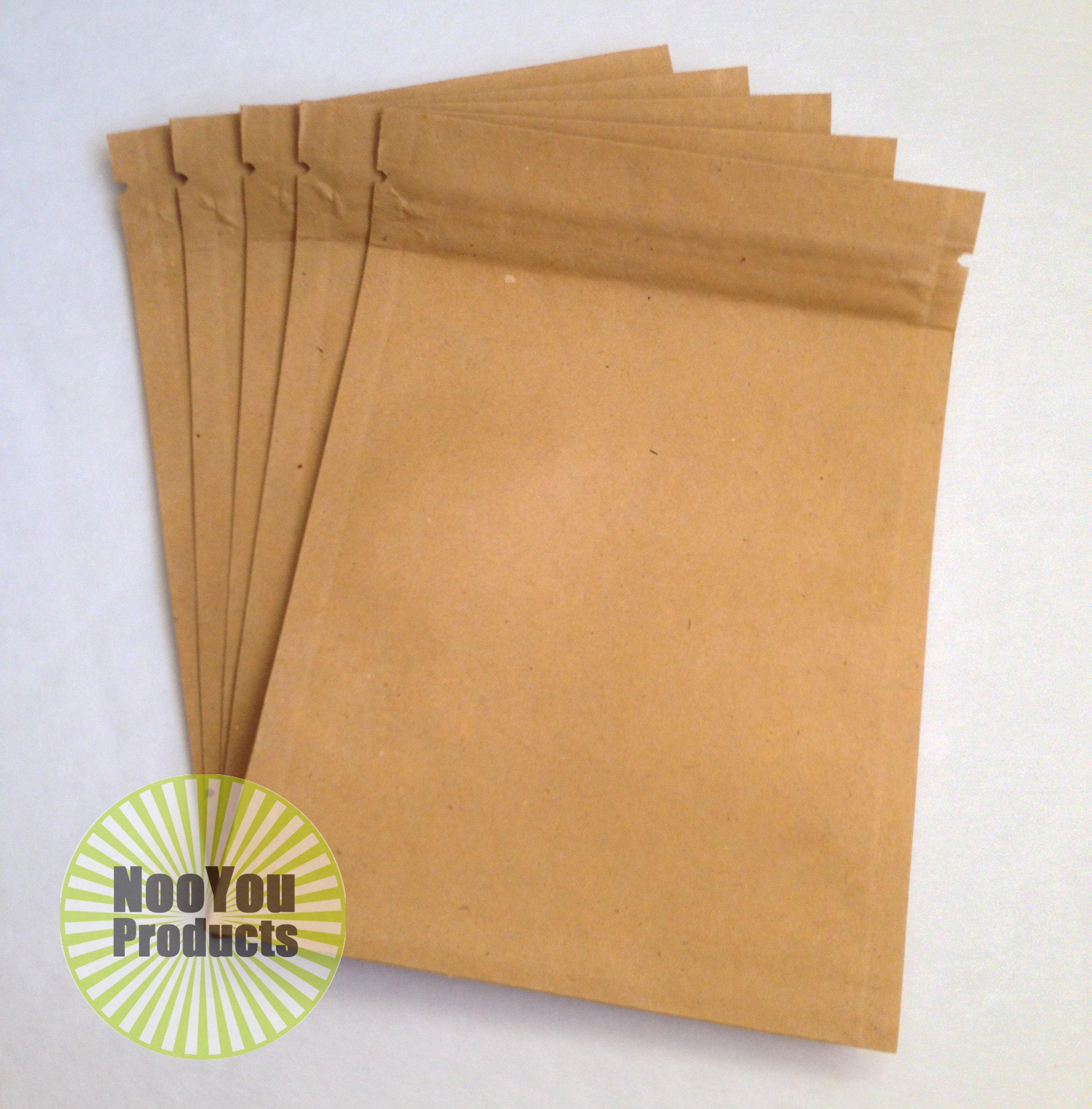 Brown Kraft Paper 3.5''x5'' Heat Seal Bags, Safe Food Storage, Smell Proof Product Packaging, Durable Reusable Survivalist Baggies (Herbs, Seeds, Tea, Coffee, Pharma) Snack Size Bakery Bag (1,000)