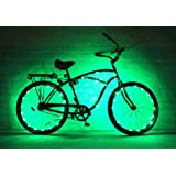 (2 Pack) GlowRiders - Ultra Bright LED - Bike Wheel Light String - Assorted Colors Bicycle Tire Accessories- Burning Man Accessory