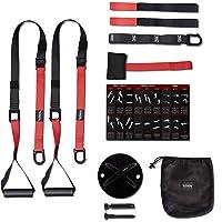 LITHIX Wysokiej jakości taśmy do treningu całego ciała w domu – Premium Sling Trainer z kotwicą na drzwi do fitnessu…