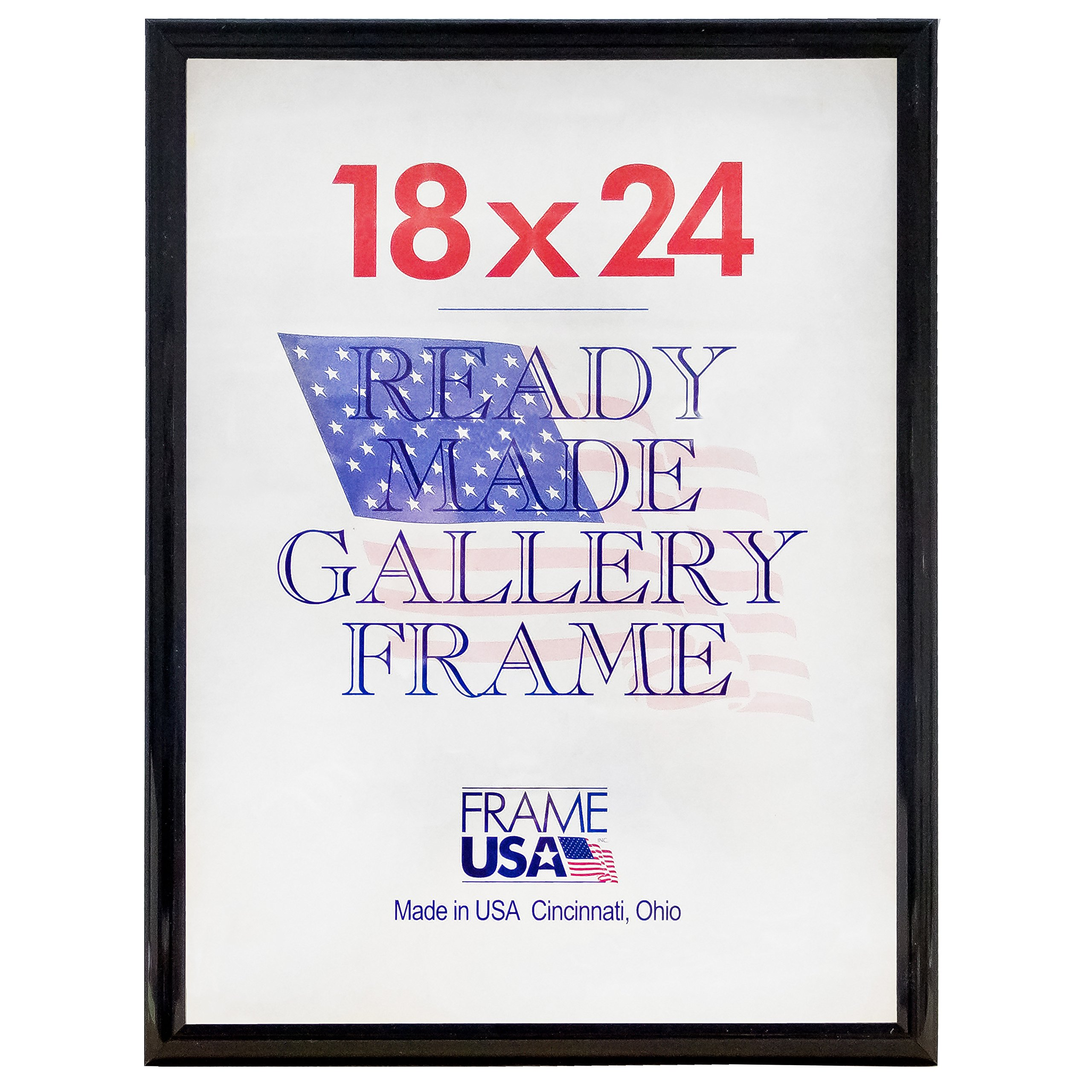 Deluxe Posterframe Frames, 18 x 24'', Black by Frame USA