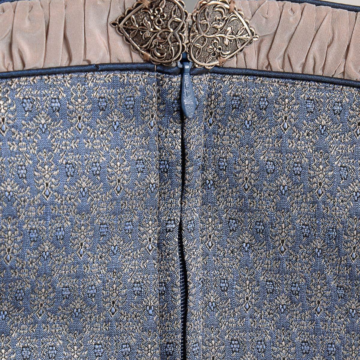 30e8fab3eef6ca Bekleidung Hammerschmid Damen Trachten-Mode Midi Dirndl Frillensee in Blau  traditionell Größe:40 Farbe:Blau Dirndl
