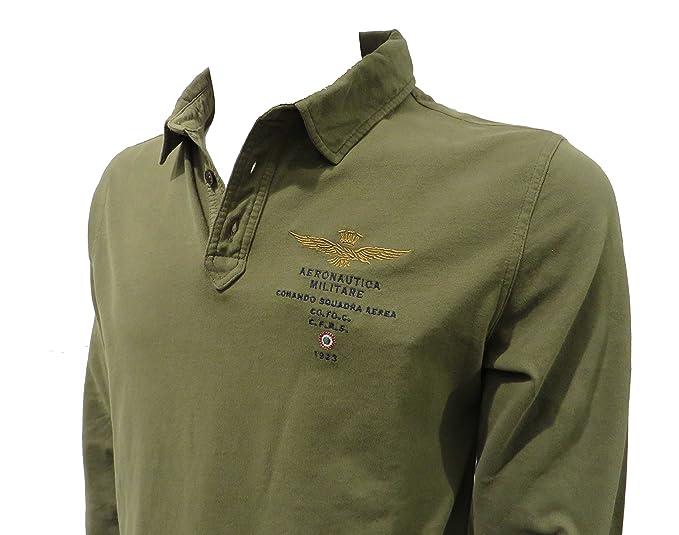 Militare verde POLO militare jersey PO1174J uomo Aeronautica 1dqnAtxw1