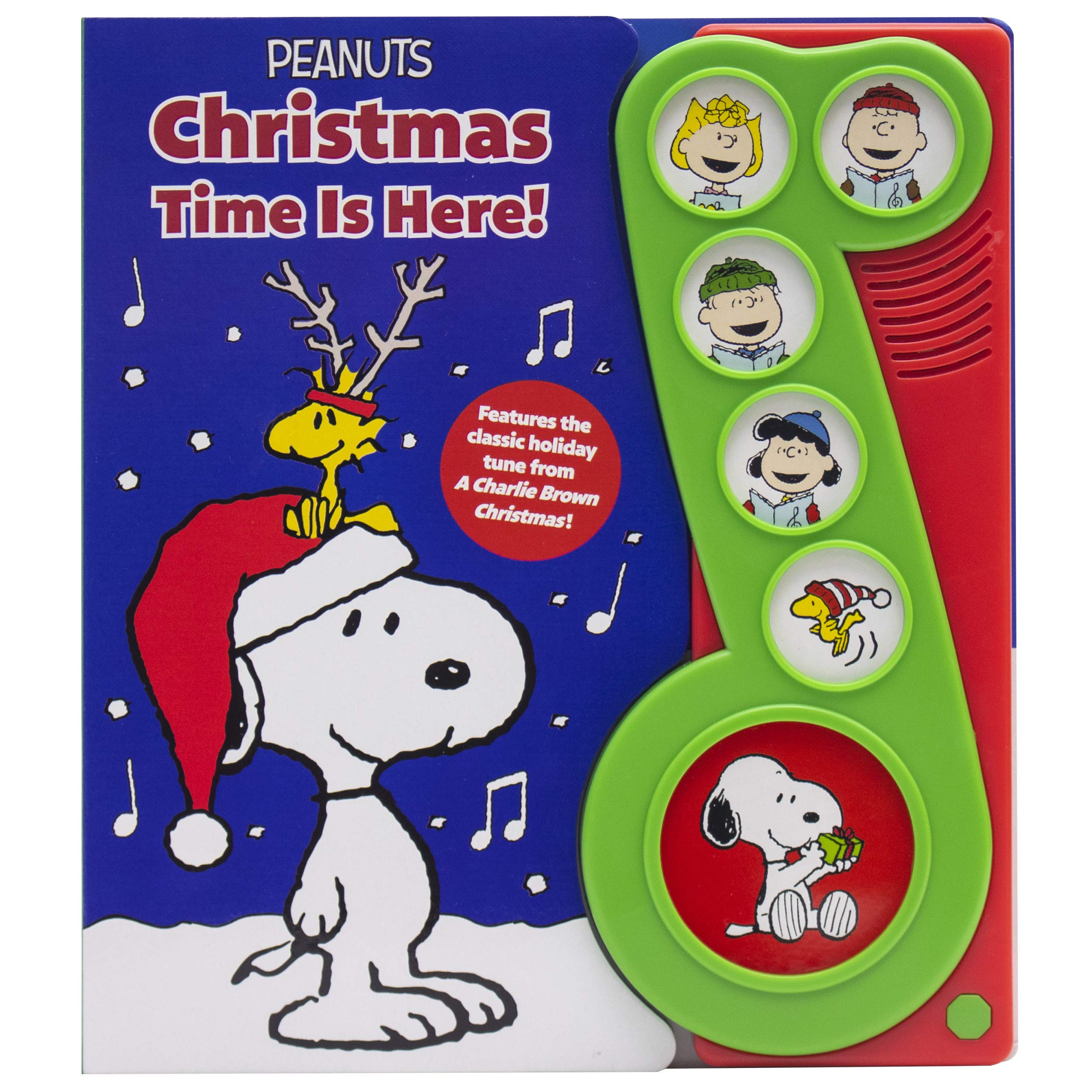 Snoopys Christmas Lyrics.Peanuts Christmas Time Is Here Charlie Brown Sound Book