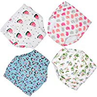 Toddler Training Pants 4 Pack Potty Training unferwwar for Baby Girls, Cotton trainging seat for Potty Training