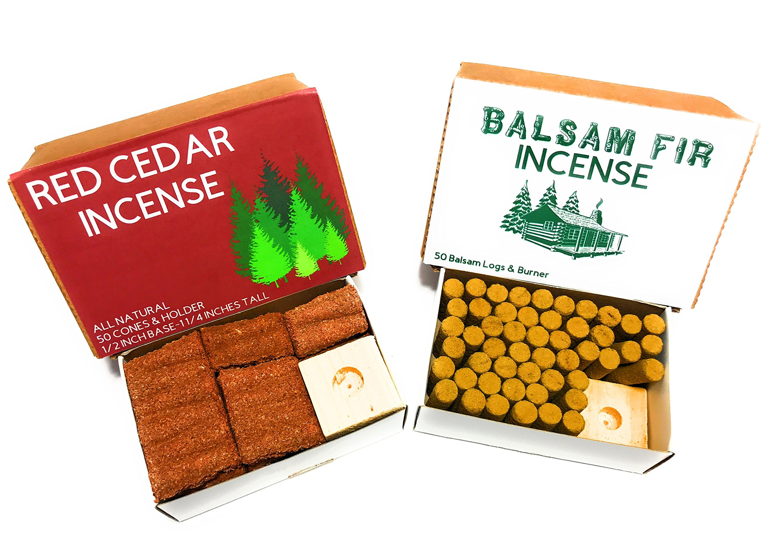 J & D's Everyday Needs Balsam Fir and Cedar Incense Cones with Holder Bundle by J & D's Everyday Needs