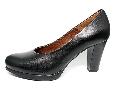 00322e6d Zapatos Salón cómodos mujer PITILLOS - Color Negro con plataforma y tacón  alto - 1481 -