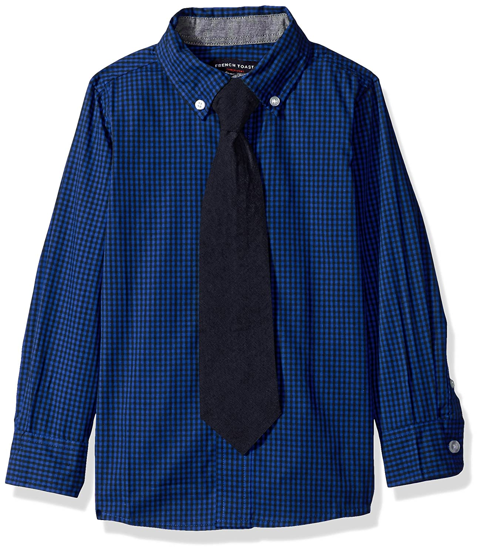 206cfe78a528fa Amazon.com: French Toast Boys' Long Sleeve Dress Shirt with Tie: Clothing
