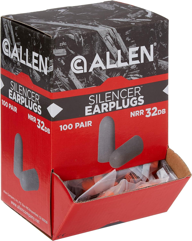 Allen Silencer Foam Ear Plugs, 32dB, Orange