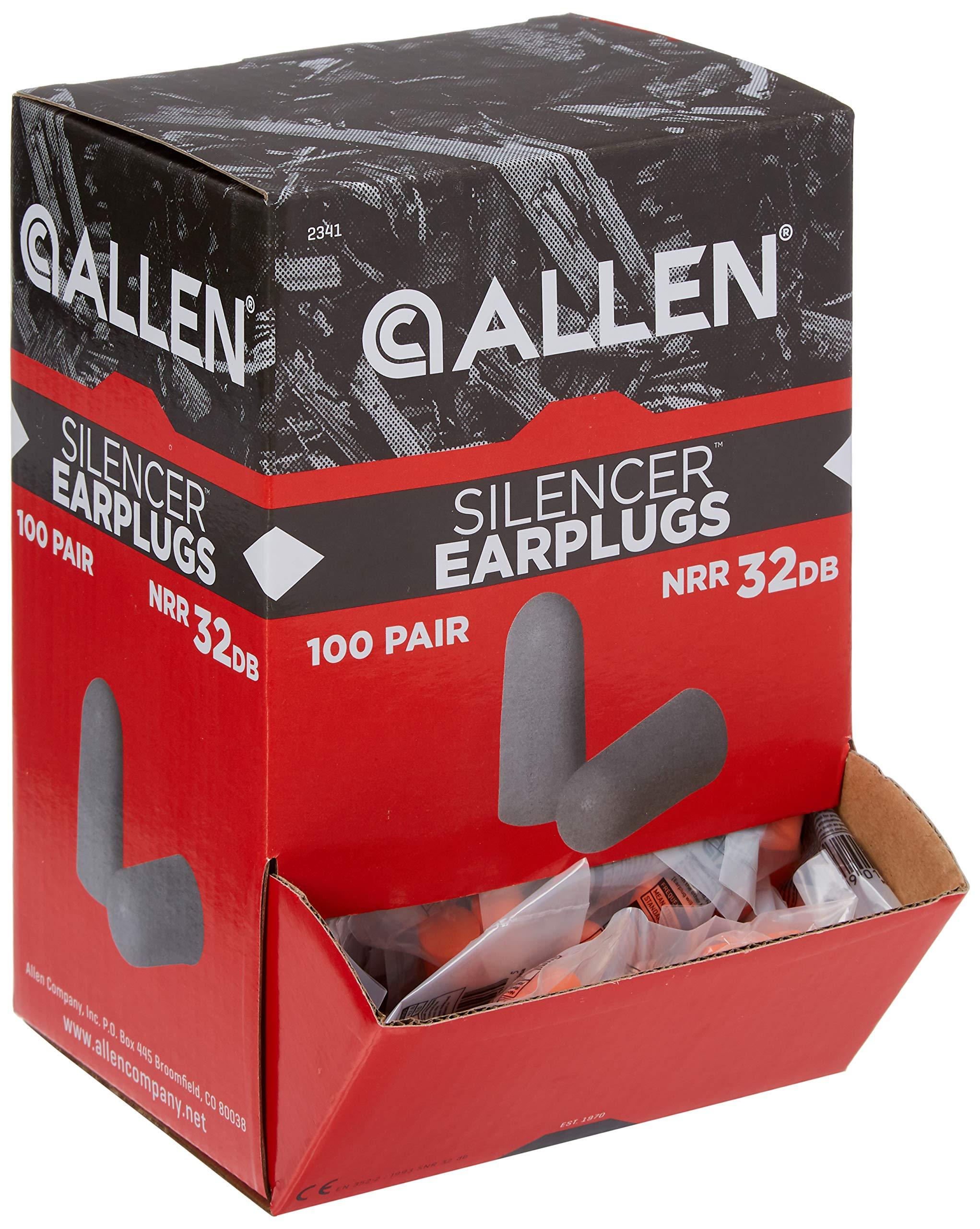 Allen Silencer Foam Ear Plugs, 32dB, Orange by Allen Company