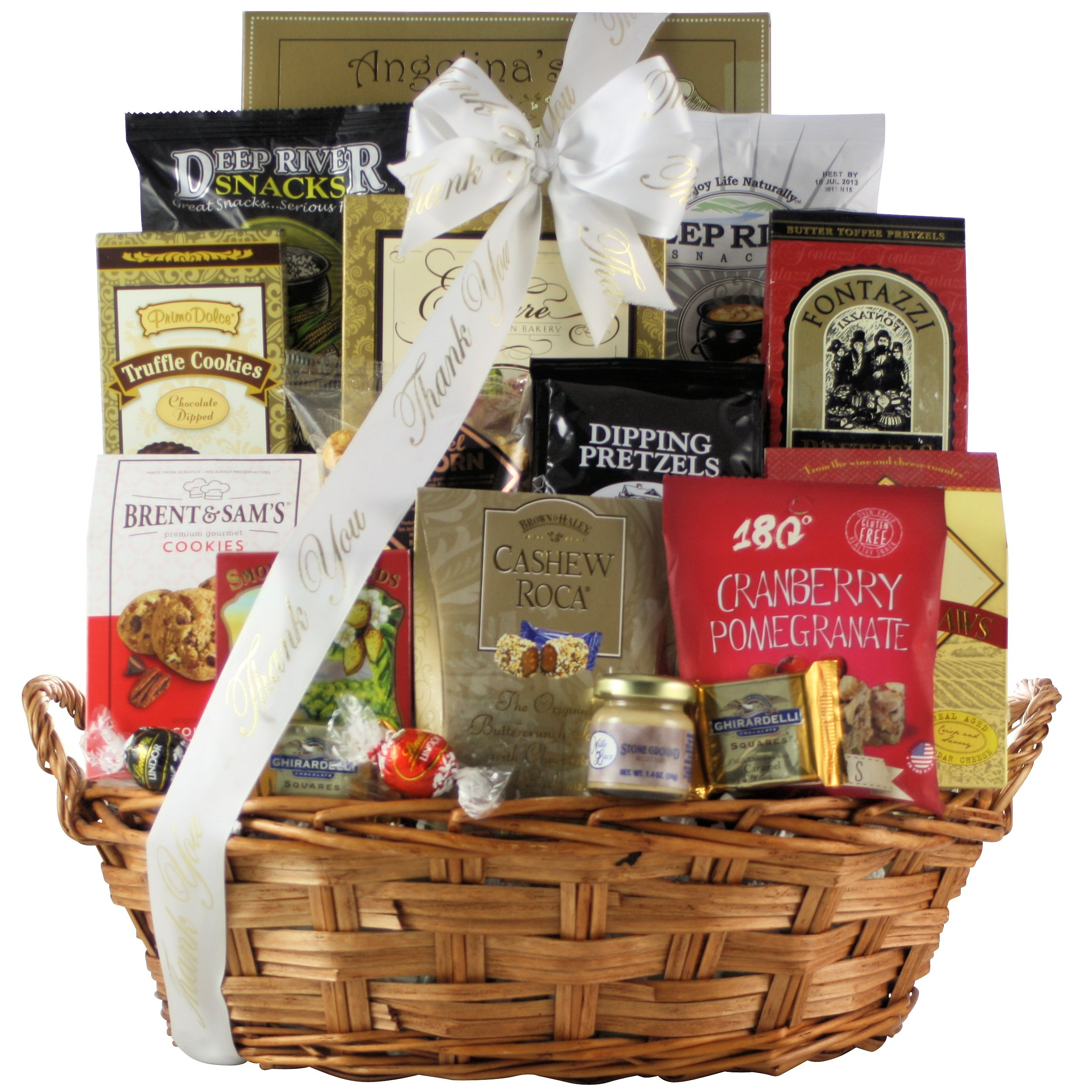 GreatArrivals Snack Attack Thank You Snack Basket, Large, 5 Pound by GreatArrivals Gift Baskets (Image #1)