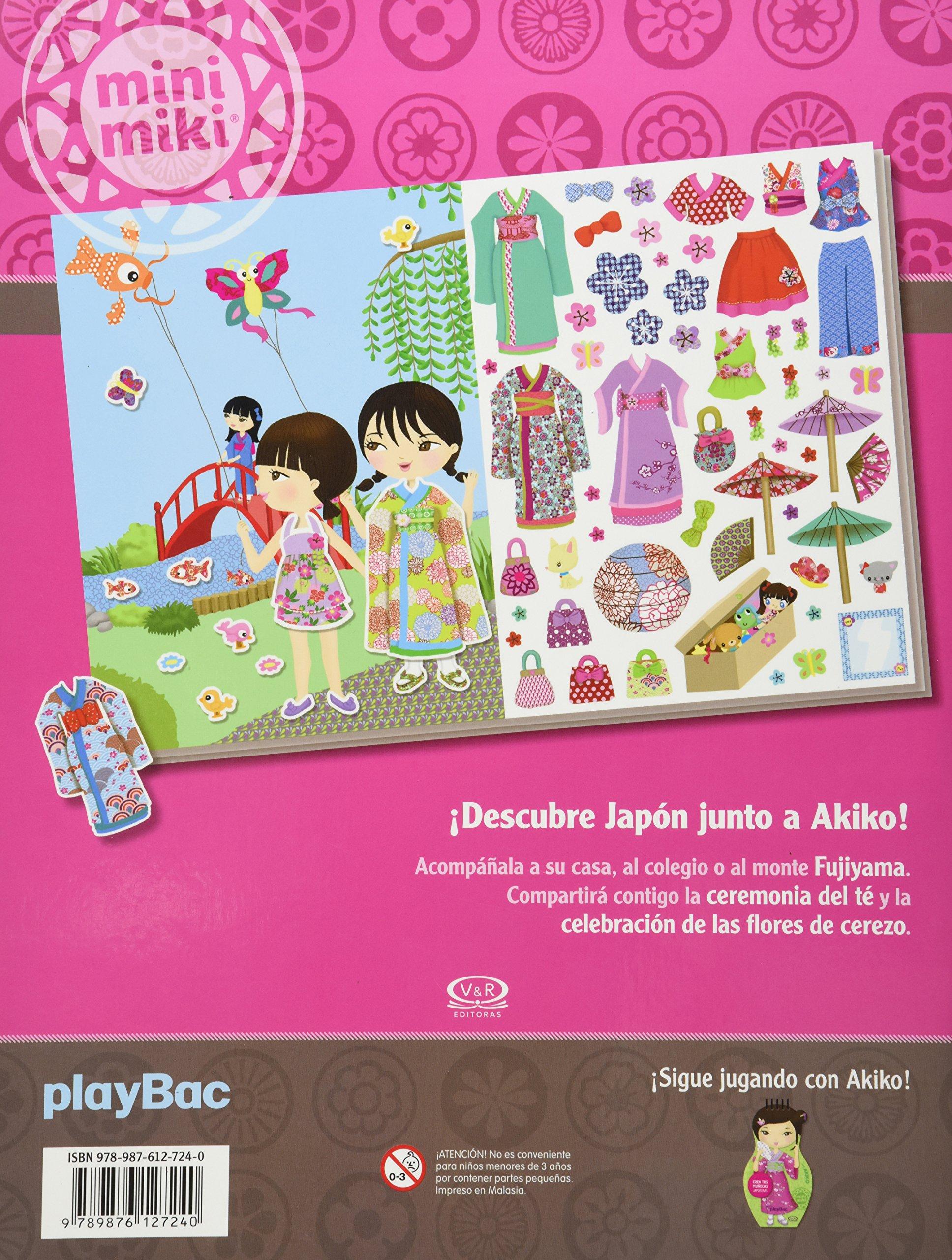Los vestidos de Akiko : con 300 stickers para que vistas a tus muñecas japonesas: VERGARA & RIBA: 9789876127240: Amazon.com: Books