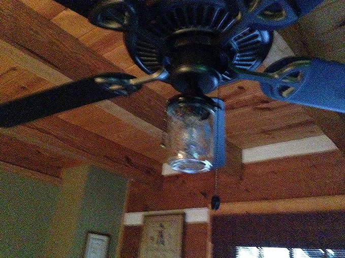 Mason Jar Ceiling Fan Light Kit (OIL RUBBED BRONZE)