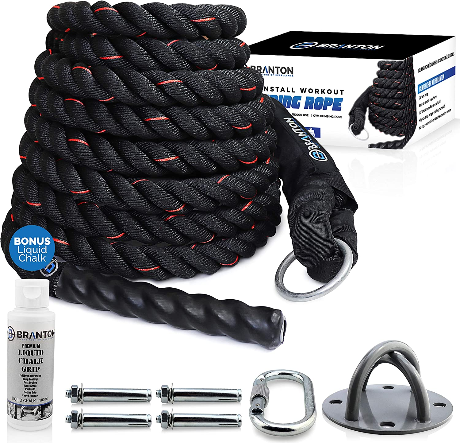 Branton Easy-Install Workout Climbing Rope