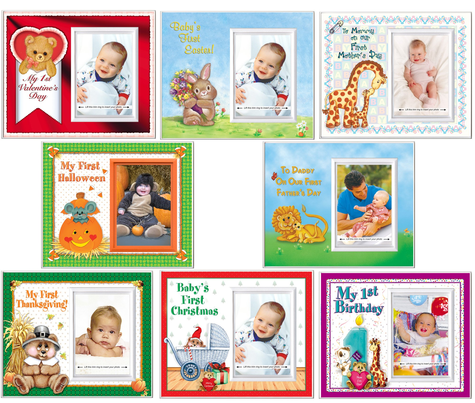 Expressly Yours! Photo Expressions Baby's First Year Picture Frame Set and Nursery Decor