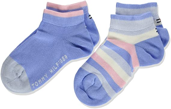 4 Pairs of Tommy Hilfiger Sneaker Basic Ankle Socks Grey UK Size 2.5-5