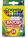 CRAYOLA 24 Pastelli a cera, colori assortiti, per scuola e tempo libero