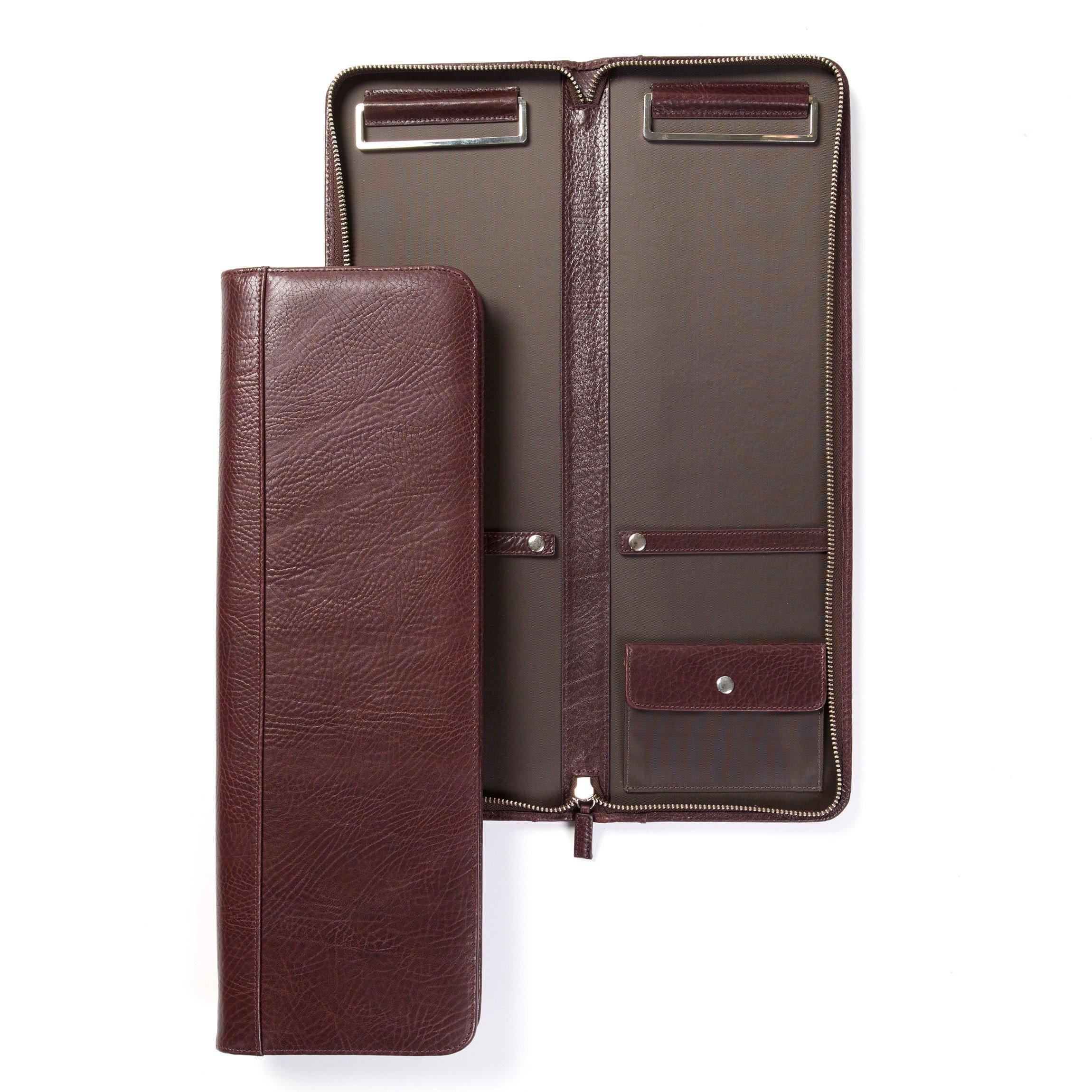 Tie Case - Italian Leather - Espresso (brown)
