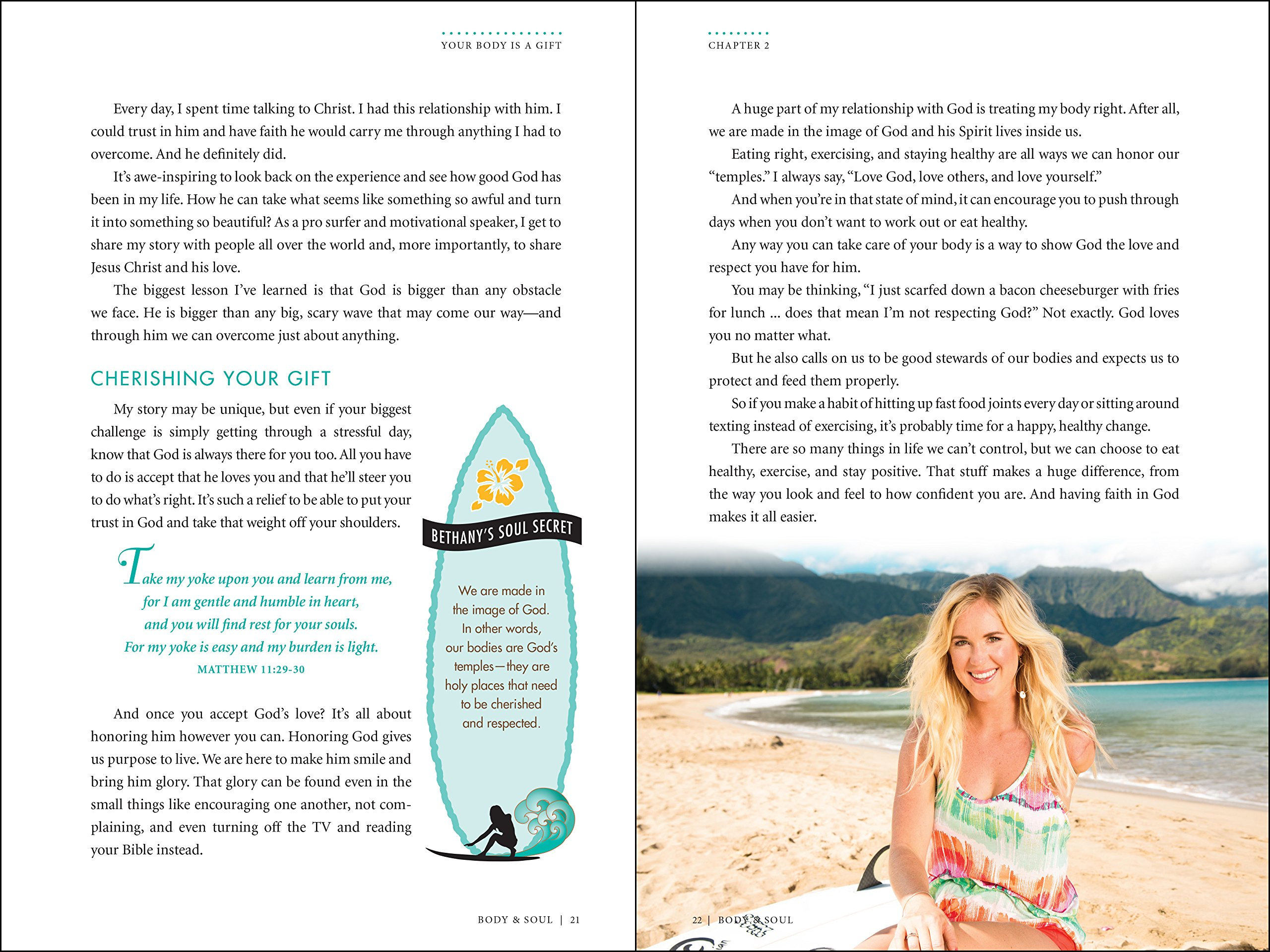 Body and Soul: A Girl's Guide to a Fit, Fun and Fabulous Life: Bethany  Hamilton, Dustin Dillberg: 0025986731052: Amazon.com: Books