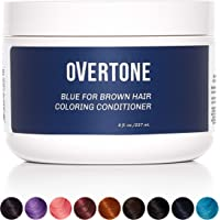 oVertone Haircare Blue for Brown Hair Deep Coloring Conditioner | Gentle Semi-Permanent Hair Color with Shea Butter…