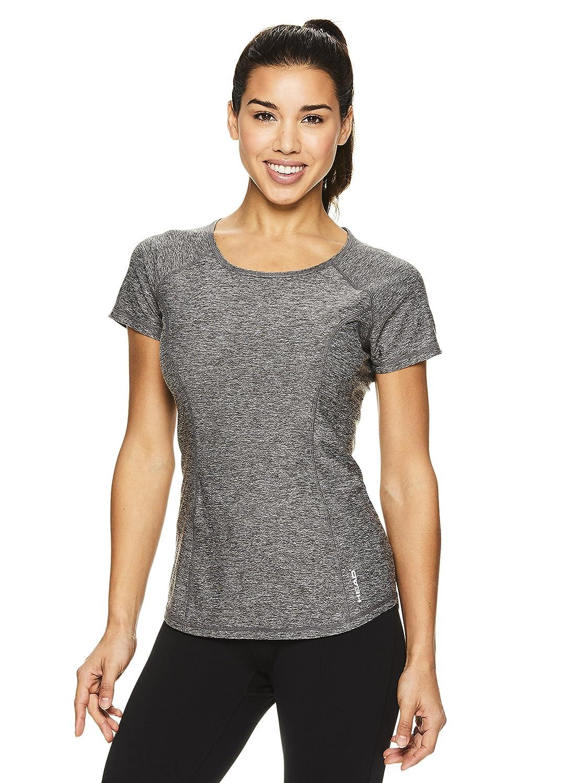 HEAD Women's Prime Short Sleeve Workout T Shirt Performance Scoop Neck Activewear Top
