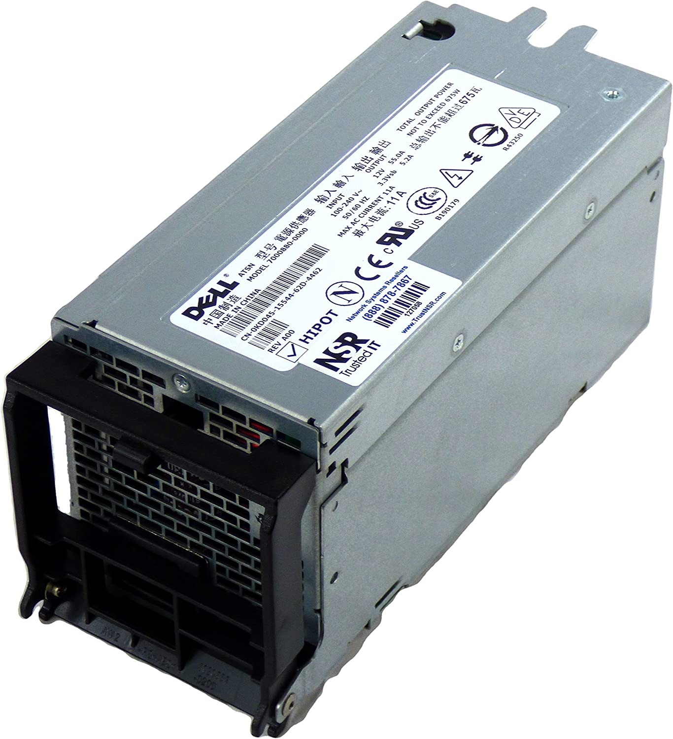 Dell P2591 675 Watt Redundant Power Supply for PowerEdge 1800.