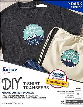 Avery Printable T-Shirt 5 Paper Transfers