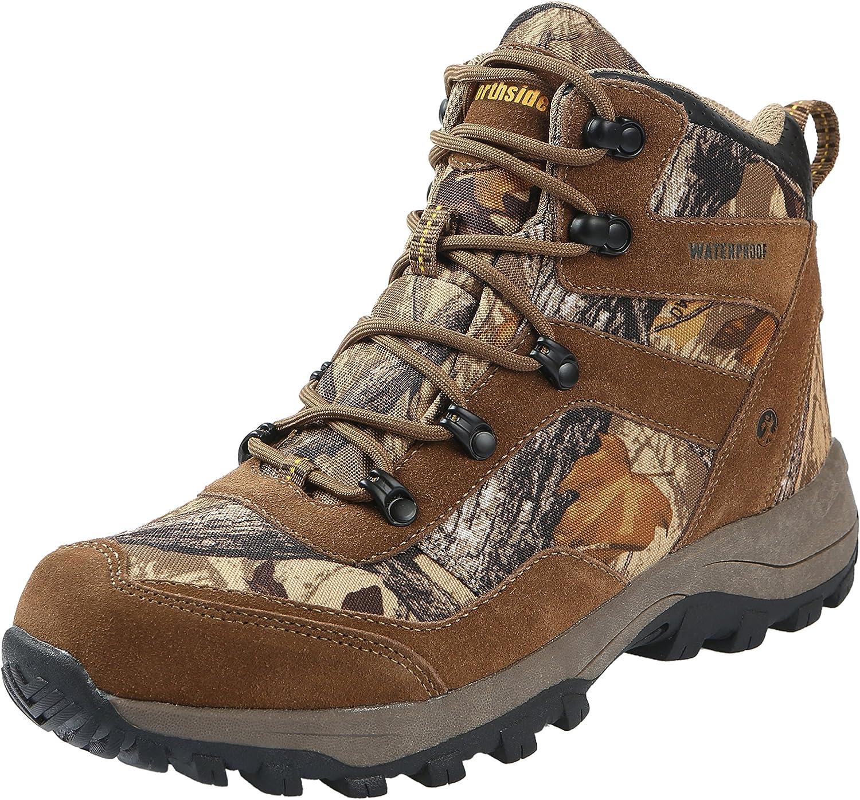 Northside Mens Dakota Leather Waterproof Mid Camo Hiking Boot