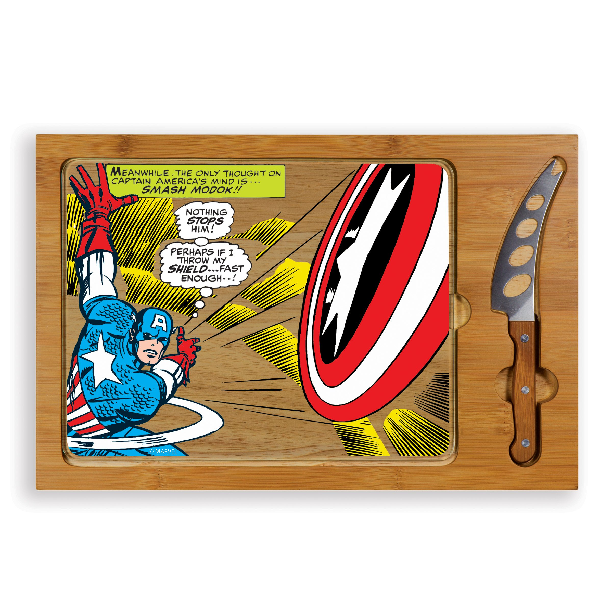 Marvel Captain America Icon 3-Piece Cheese Serving Set
