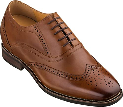 "CHAMARIPA Height Increasing Men Casual Brogue Shoes 2.56/"" Taller Elevator Shoes"